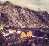 Huts in Norway Stock Photo