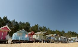 Huts On Beach At Holkham Sands, Norfolk Stock Photography