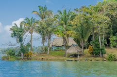Huts on Panama Canal Royalty Free Stock Photo