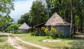 The huts in the rainforest Royalty Free Stock Photography
