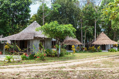 The huts in the rainforest Royalty Free Stock Images