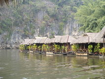 huts on the river Royalty Free Stock Images
