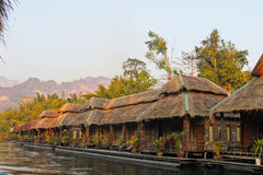 In huts on the river Kwai Royalty Free Stock Images