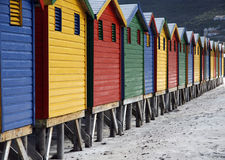Huts in a row Royalty Free Stock Image