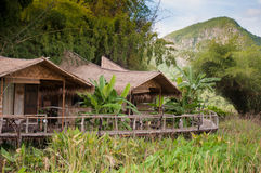 Huts in the rural of Thailand Royalty Free Stock Image