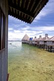 Huts on Stilts Royalty Free Stock Image