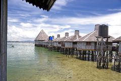 Huts on Stilts Royalty Free Stock Photo
