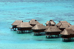 Huts in Tahiti Stock Image
