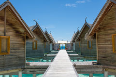Huts at the topical beach at Maldives. Huts at the topical beach Stock Photo