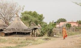 Huts in Torit, South Sudan Stock Image