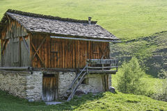 Huts in the Vals valley Stock Photos