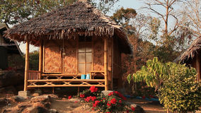 Huts Wind Relax stock video footage