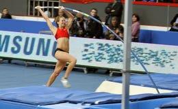 Hutson Kylie - Amerikaanse pool vaulter Stock Foto's