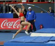 Hutson Kylie - saltador de poste americano Fotos de archivo