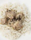 Hutspot met rijst Royalty-vrije Stock Afbeelding