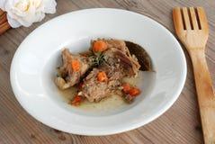 Hutspot van konijnvlees Stock Foto