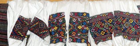 Hutsul embroidery of the vyshivanka sleeves Royalty Free Stock Images