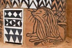 Hutte africaine d'adobe Images libres de droits