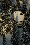 hutte alpestre Photos libres de droits