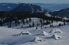 hutte alpestre Photo libre de droits
