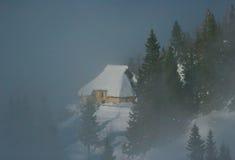 hutte alpestre Image stock