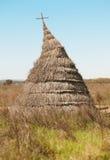 Hutte antique dans un paysage méditerranéen de pré Cabaneros, Spai Photo libre de droits