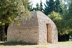Hutte antique de Bories en Provence française Image stock