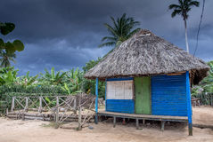 Hutte Baracoa Cuba de plage Photographie stock