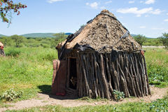 Hutte d'une tribu de Himba Image libre de droits