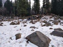 Hutte dans la glace Photo libre de droits