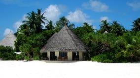Hutte dans la plage Photographie stock libre de droits