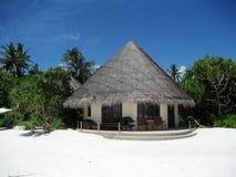 Hutte dans la plage Photo libre de droits