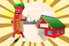 Hutte de hot-dog Images libres de droits