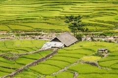Hutte de Karen au nord-Vietnam Photo libre de droits