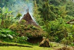Hutte de Kogi en Colombie Photos libres de droits