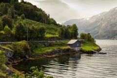 Hutte de la Norvège Image libre de droits