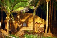 Hutte de luxe sous des cocotiers dans le goa Images libres de droits
