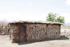 Hutte de masais image stock