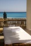 Hutte de massage à la plage Images libres de droits