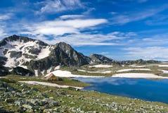 Hutte de montagne Images stock