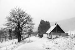 Hutte de montagne Photographie stock libre de droits