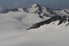 Hutte de montagne dans des alpes d'Otztal, Autriche Images libres de droits