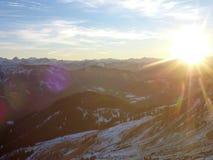 Hutte de montagne de hutte de Hofpurgl dans les alpes autrichiennes Photos libres de droits