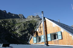 Hutte de montagne, France Photos stock
