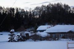 Hutte de neige au Japon images libres de droits