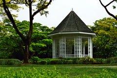 Hutte de Nipa de jardin botanique Image stock