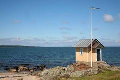 Hutte de plage Images libres de droits