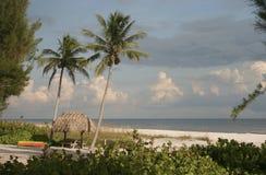 Hutte de plage de Sanibel Images libres de droits