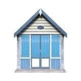 hutte de plage du rendu 3D sur le blanc Photo stock