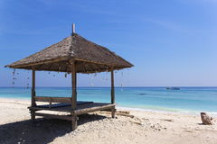 Hutte de plage sur Gili Islands Photo libre de droits